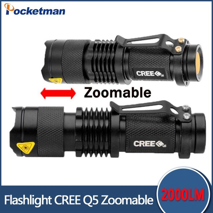SK68 penlight 2000LM Waterproof LED Flashlight Torch 3 Modes zoomable Adjustable Focus Lantern Portable Light use AA 14500