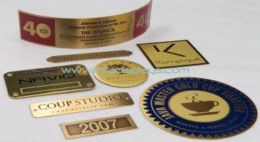 brass nameplates tags emblems