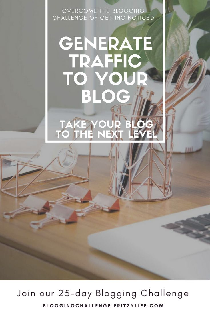 For new blogs, generating traffic to your site is often a blogger's greatest challenge.  The 25-day blogging challenge will take your hand and help you through every obstacle of the way. 25-day blogging challenge