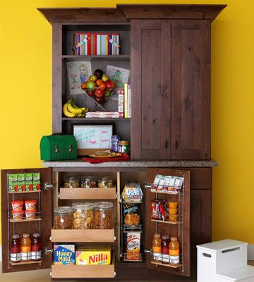 turn an old tv cabinet into a kitchen pantry
