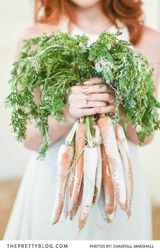 Alternative Wedding Bouquet Option Of Carrot Greens | Photography By  Chantall Marshall | Flowers By Kadou