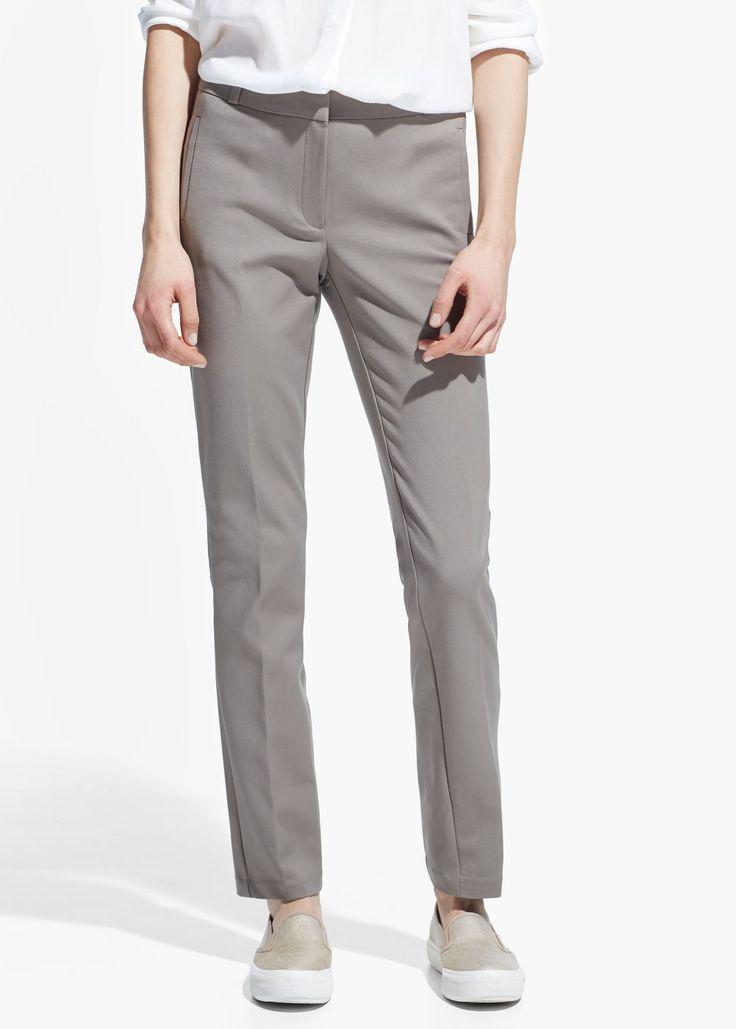 Cotton suit trousers