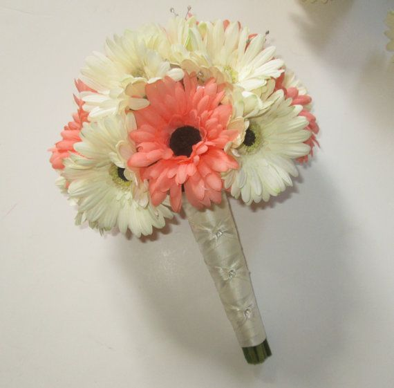 Gerbera Daisy Wedding Bouquet Silk Wedding by shannonkristina, $75.00