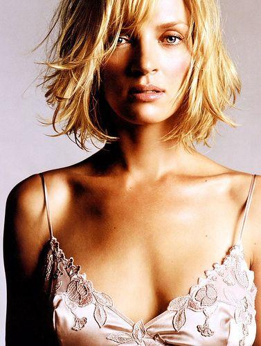 Uma Thurman: Blondes Hairstyles, Messy Bobs, Bobs Haircuts, Bobs Hairstyles, Uma Thurman, Umathurman, Shorts Haircuts, Layered Bobs, Shorts Hairstyles