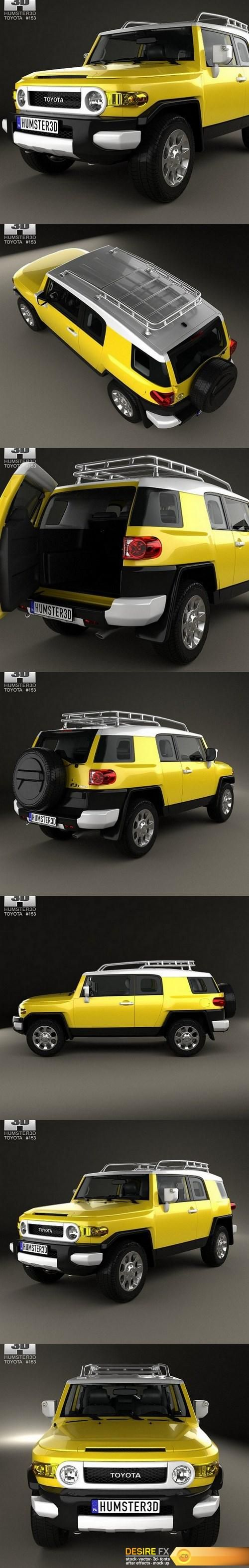 Toyota FJ Cruiser HQ interior 2010 3D Model  http://www.desirefx.me/toyota-fj-cruiser-hq-interior-2010-3d-model/