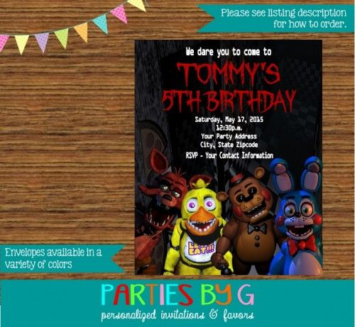 Personalised Birthday Invitations