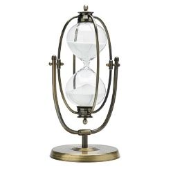 60 Minute Brass Flip-over Hourglass Timer - Buy Online at JustHourglasses.com