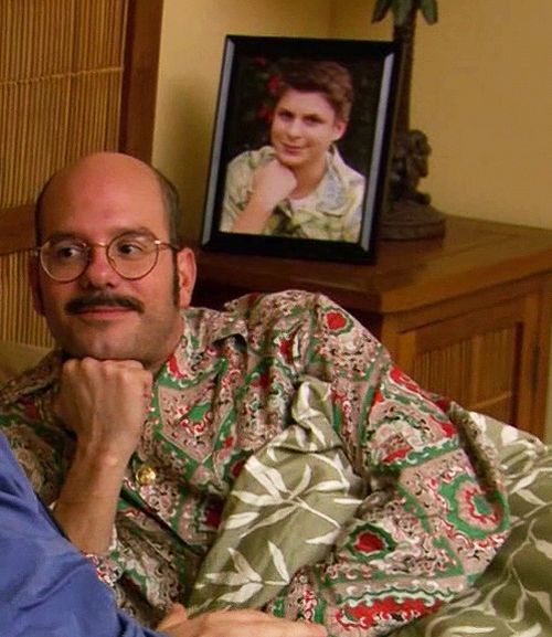 Arrested Development.  Dr Tobias Funke and George Michael Bluth.