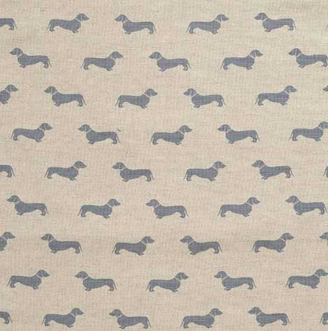 Blue Daschund - Emily Bond - Fabrics - Fabric & Co - Harrogate Fabric Shop - Blinds, Curtains and Fabrics
