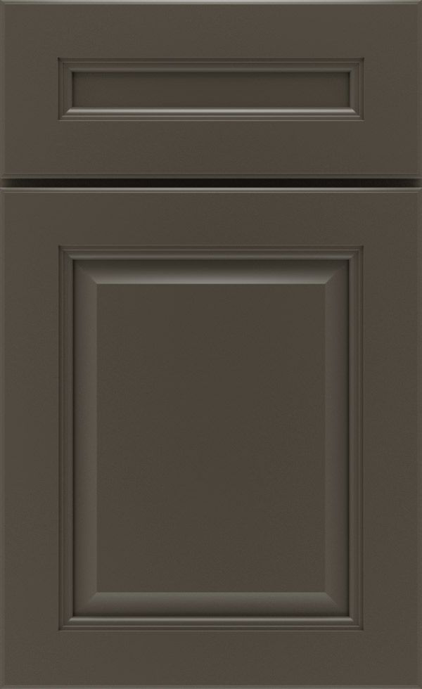 The Carmin cabinet door style can be made of maple or cherry cabinet wood in a wide variety of cabinet finishes and glazes from Schrock.