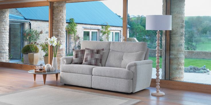 Atlanta 3 Seater Sofa Mesh Linen by G Plan. Available from Rodgers of York #Sofa #Home