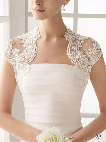 ♥New Size White/Ivory Lace Wedding Bridal Bridesmaid Bolero/Jacket/Shrug/Stole ♥ | eBay