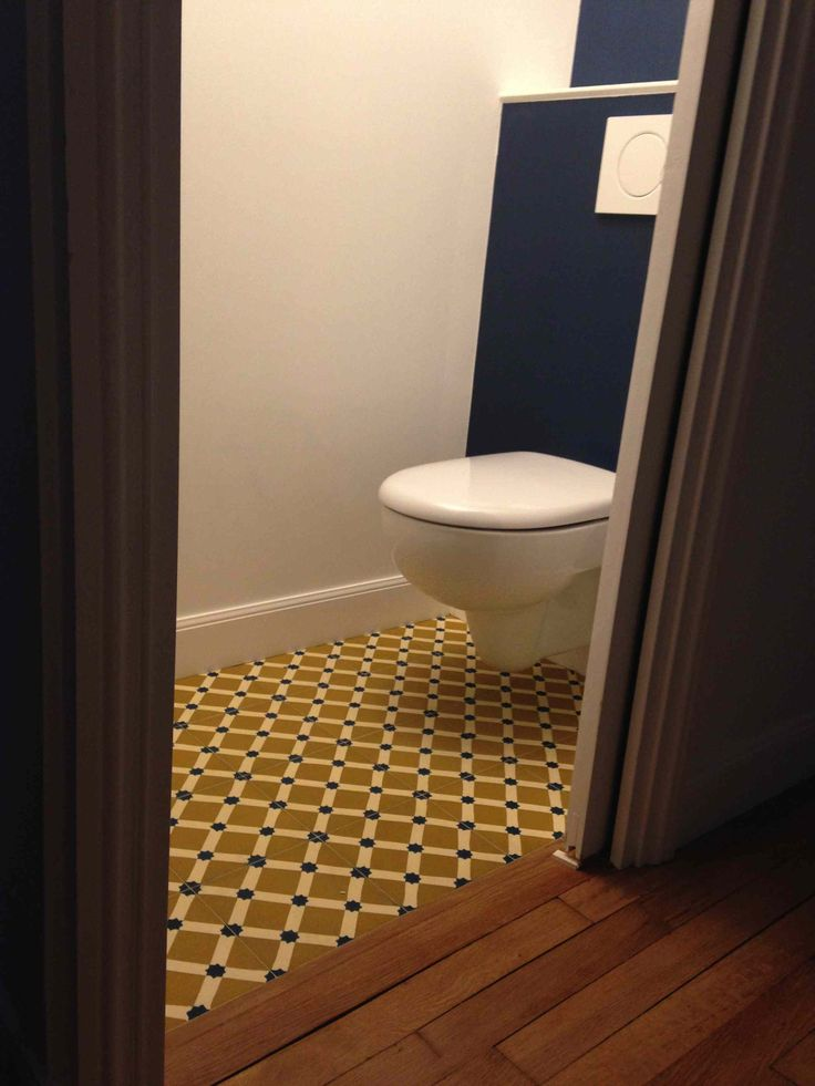 17 best Carreaux de ciment - wc images on Pinterest Bathroom - Comment Decorer Ses Toilettes