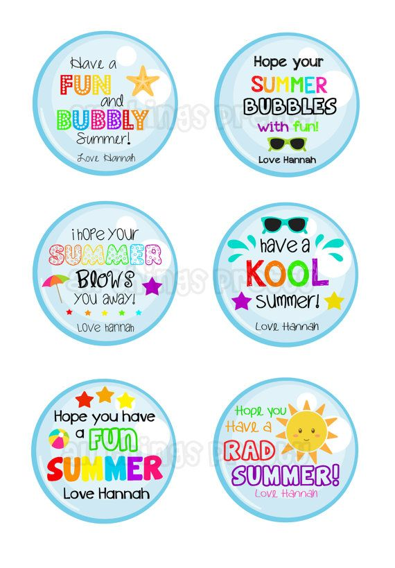 Summer Tags - End of school year printables - School - Bubble Images - Summer fun - School tags on Etsy, $2.81