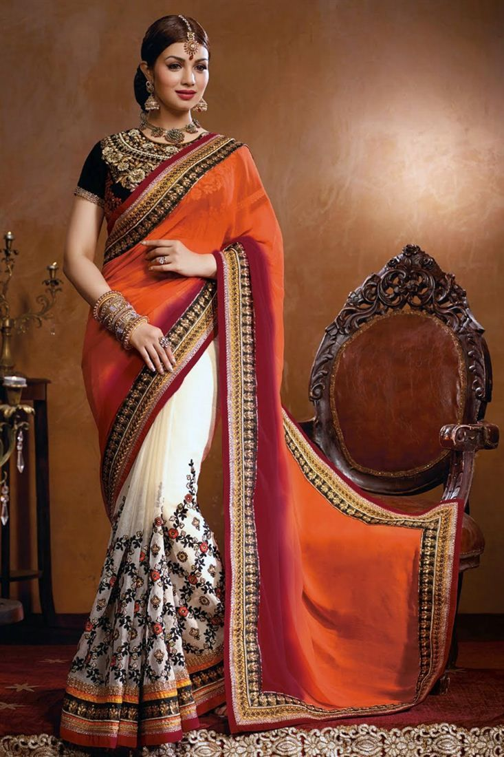 Mesmeric Party Wear Embroidered Designer Saree with blouse
