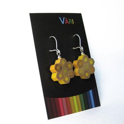 Favourite color - flower earrings by Elli Hukka