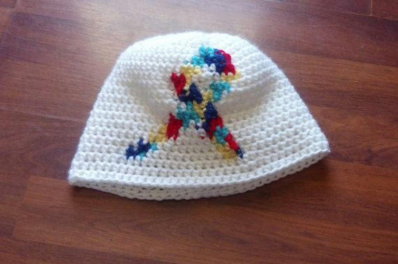 Awareness Ribbon Crochet Hat Check out this item in my Etsy shop https://www.etsy.com/listing/184288322/awareness-ribbon-crochet-beanie-sizes