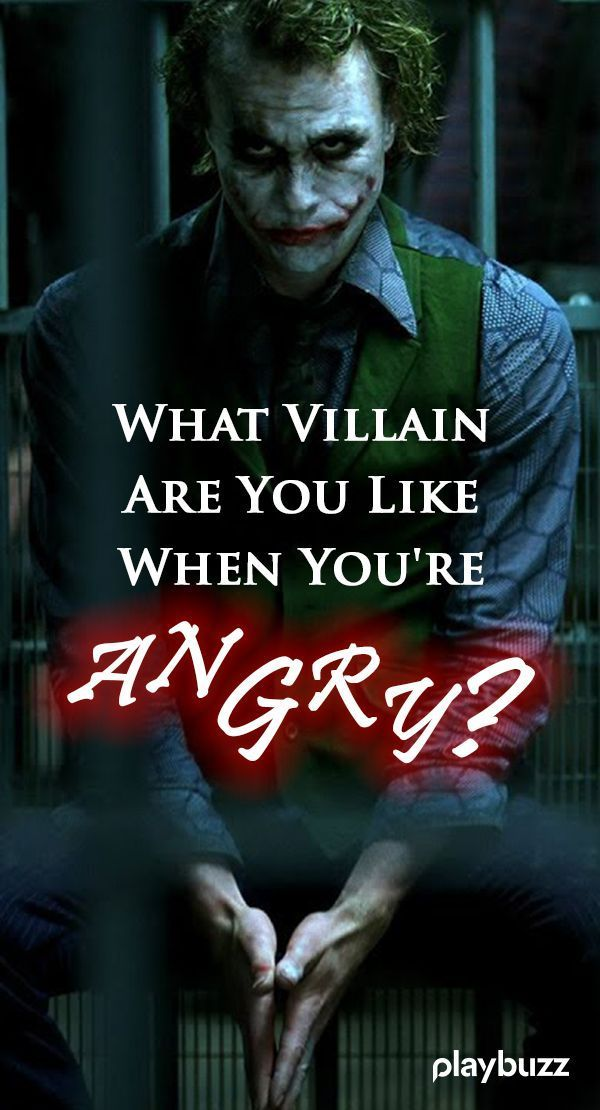What Villain Are You Like When You're Angry? | Movies
