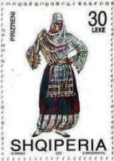 2002 Albania-Trajes Nativos-Mujer de Prizden