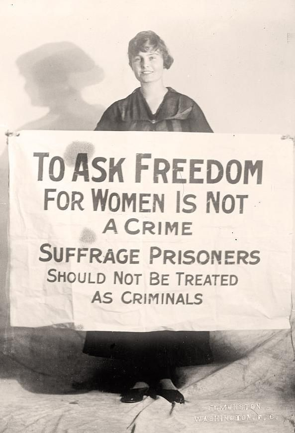 National Womens Party member Lucy Branham. Born in Virginia, USA.