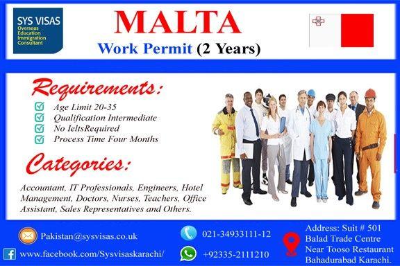 malta #work #visa #pakistani #intermediate #ielts not required