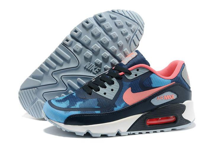 Best Nike Air Max 1 Womens Deep Blue Pink Volt Shoes ggc6xb6ic