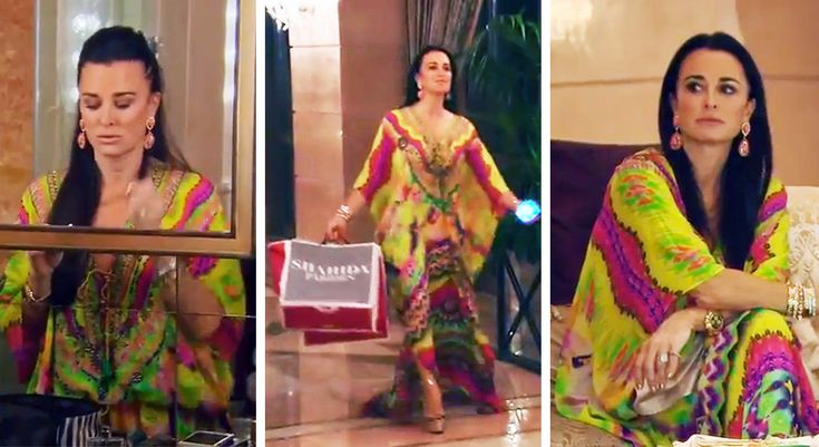 Blog - Real Housewives Kyle Richards in a Shahida Parides Kaftan on Last Night's Episode