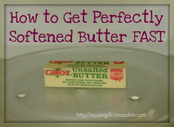 Baking Tip: Softening Butter