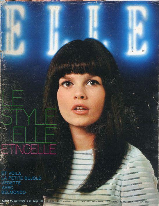 Geneviève Bujold en couverture de Elle n°1082 de 1966, photo Horst Widmann