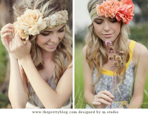 DIY Flower Headbands by M.Studio | The Pretty Blog (Little Lace Flower Headband here I come!!!)