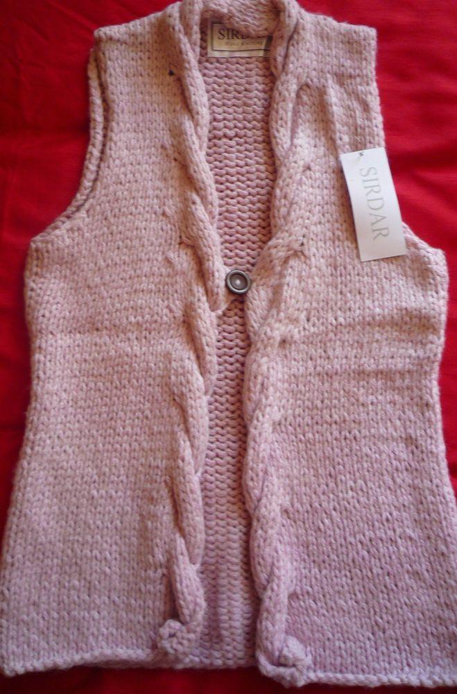Ladies Hand-knitted Super Chunky Waistcoat
