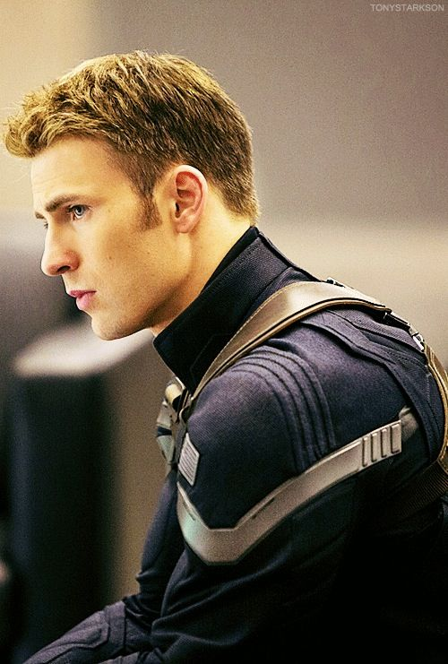 Chris Evans in Captain America: The Winter Soldier. I feel like the only pictures of him these days are of Captain America