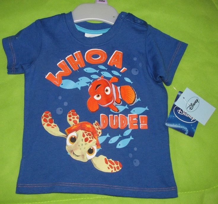 Baby boy 3-6 months tshirt #FindingNemo #Disney #Matalan #ebay #kidswear #kidsfashion