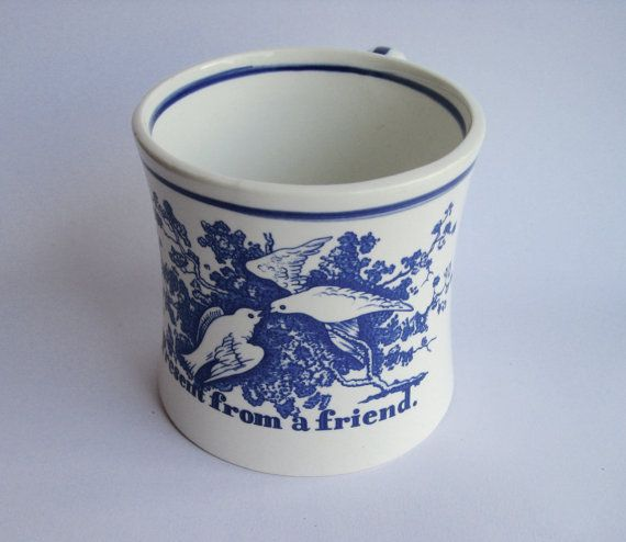 Blue Delft cup useful desk cup Winterthur by RetroandReclaimed
