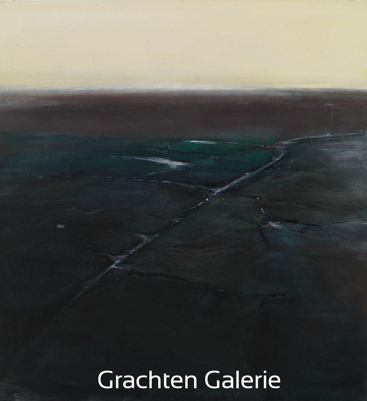 Z.t. 5 | Andre Hoppzak | Schilderij | Painting | Kunst | Art | Groen | Green | Wit | White | Grijs | Grey | Grachten Galerie
