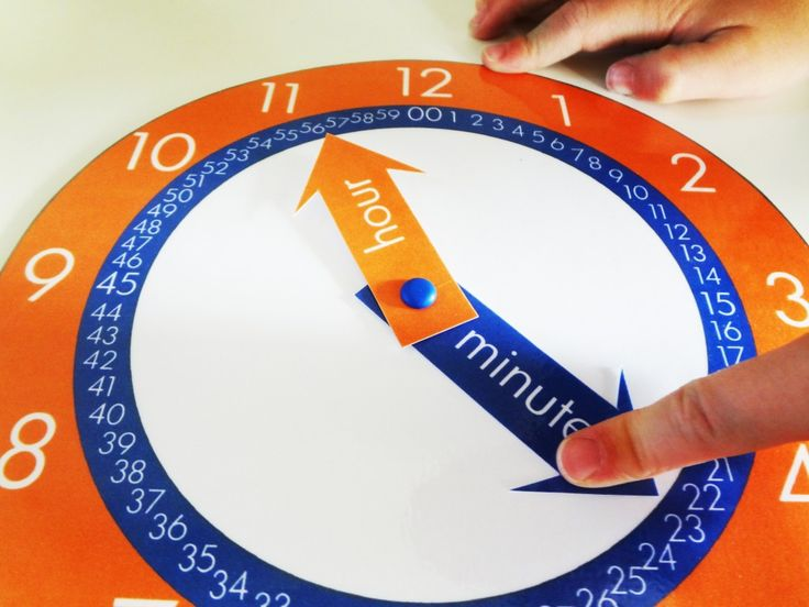 free clock printable for kids