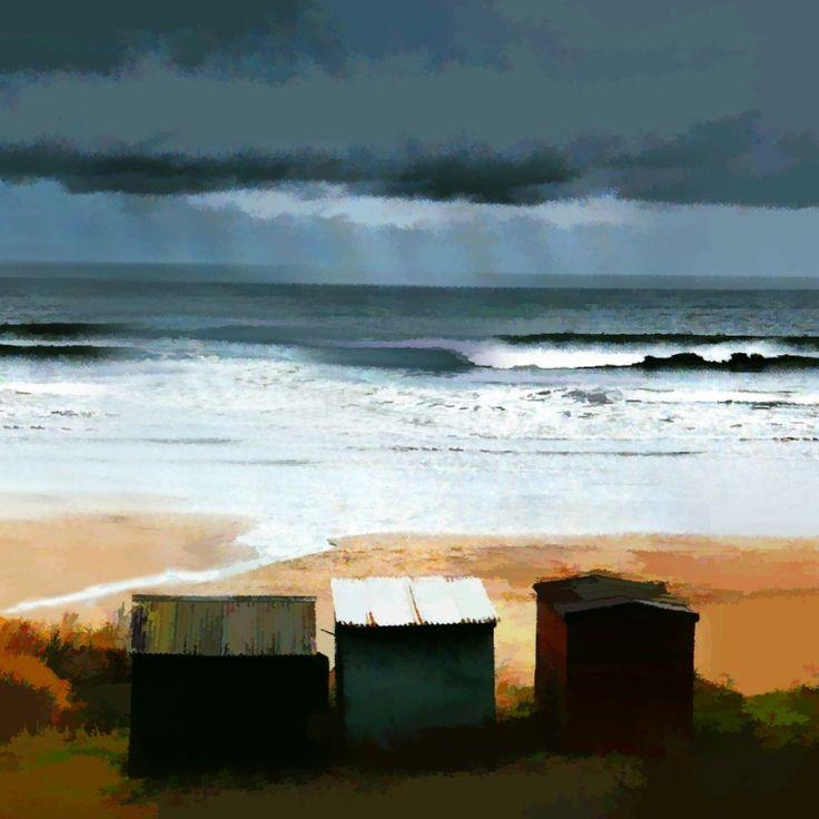 Ian Ledward Beach Huts près de Berwick EUR Vendu Type: Multimédia Taille: 12 x 12 pouces