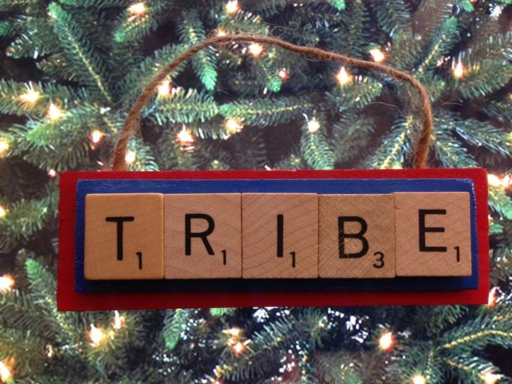 Cleveland Indians TRIBE Scrabble Tiles Christmas Ornament Holiday Baseball