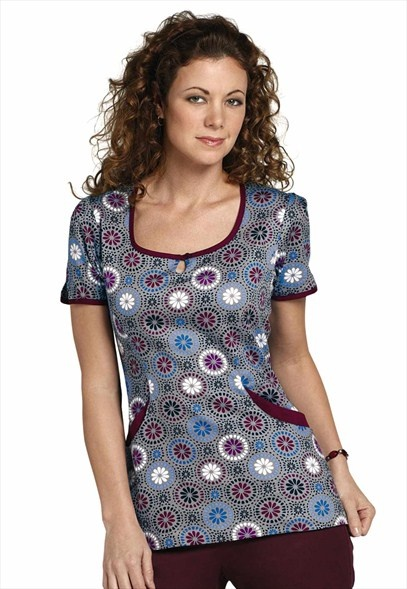 Rampage Circa print scrub top. like the style but not the pattern of it