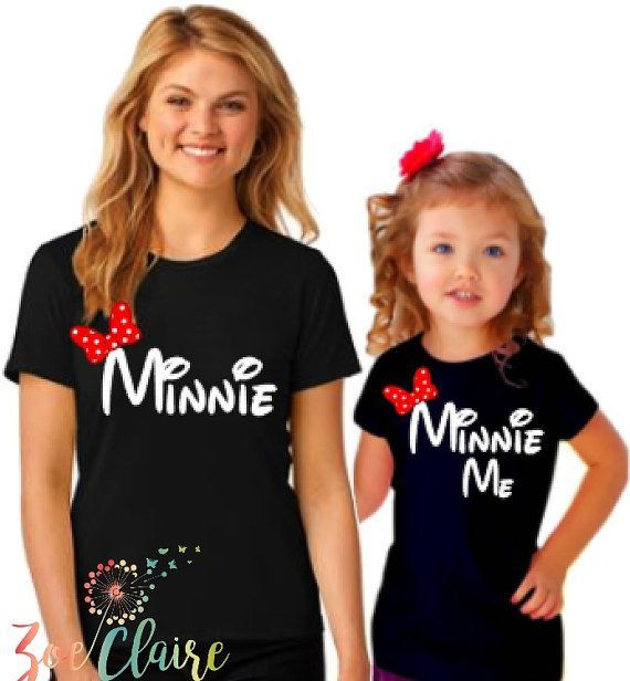 Mommy and Me Disney Shirts I Matching Minnie by ZoeClaireCreations