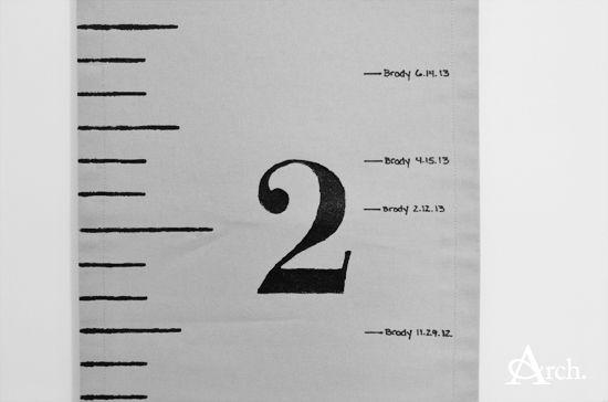 DIY: Fabric Ruler Growth Chart [Andrea Arch]