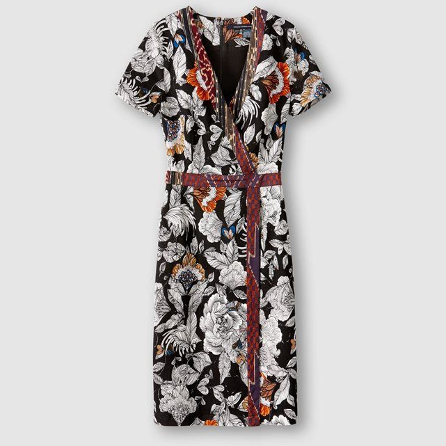 Robe motifs fleuris, manches courtes FRENCH CONNECTION