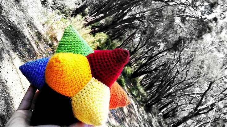 'Willy Wonka's Everlasting Gobstopper'!   Project information and pattern link here;   http://www.ravelry.com/projects/LindaDavie/celestine-crochet