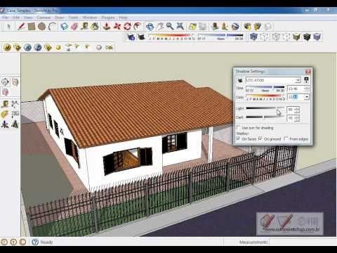 Curso Sketchup 8 Pro Online Aula Grátis: Aula11 - Sombras, Cores, Texturas e Estilos