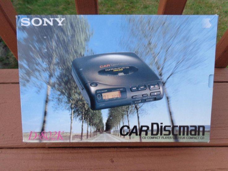 SALE FINAL REDUCTION 1991 Vintage Sony Car Discman D-802K Compact CD Player BOX