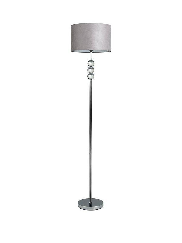 Ingrid Faux Suede 3 Ball Floor Lamp Very Co Uk