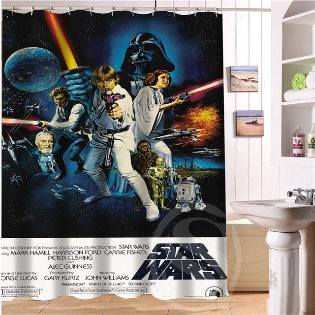 Shower Curtains Bathroom Products Custom Star Wars Shower Curtain