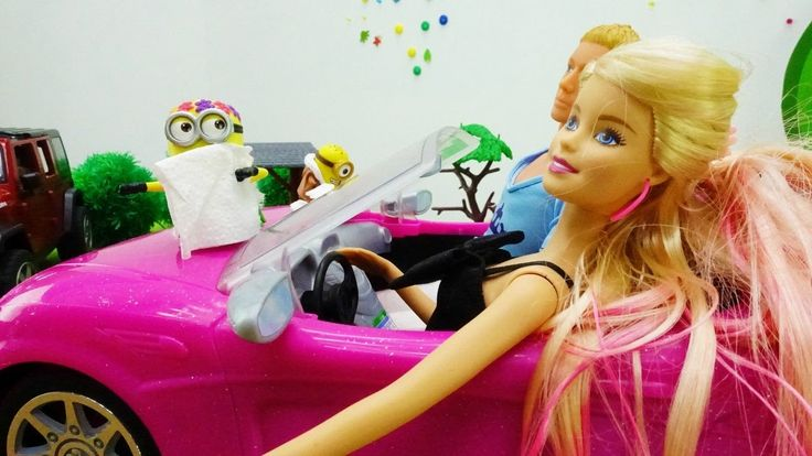 Кукла Барби за рулем МАШИНЫ: Кен и Барби едут на мойку. Мультики для дев...
