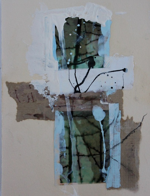 untitled mixed media collage by Vavoir / Jane Cornwell