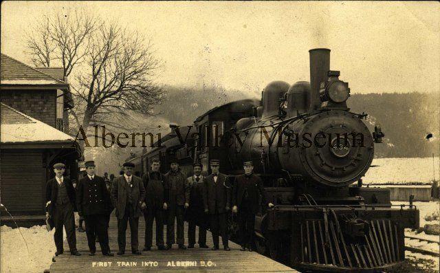 PN03759  First train into Port Alberni, 1911.  [Alberni Valley Museum Photograph Collection]